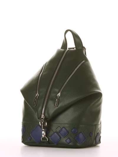 Брендовый рюкзак, модель 181403 темно-зеленый. Фото товара, вид сзади.