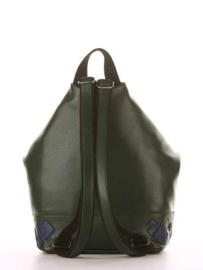 Брендовый рюкзак, модель 181403 темно-зеленый. Фото товара, вид дополнительный.