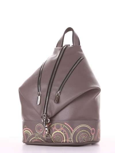 Школьный рюкзак, модель 181404 темно-серый. Фото товара, вид сзади.
