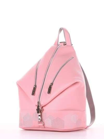 Модный рюкзак, модель 181405 пудрово-розовый. Фото товара, вид сзади.