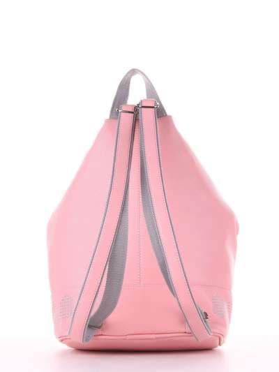 Модный рюкзак, модель 181405 пудрово-розовый. Фото товара, вид дополнительный.