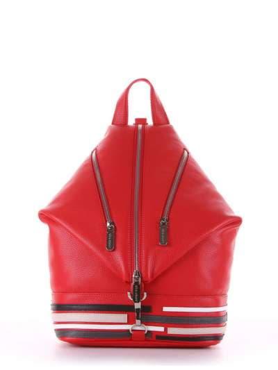 Модный рюкзак, модель 181406 красный. Фото товара, вид сбоку._product-ru