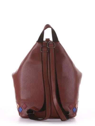 Брендовый рюкзак, модель 181407 коричневый. Фото товара, вид дополнительный.