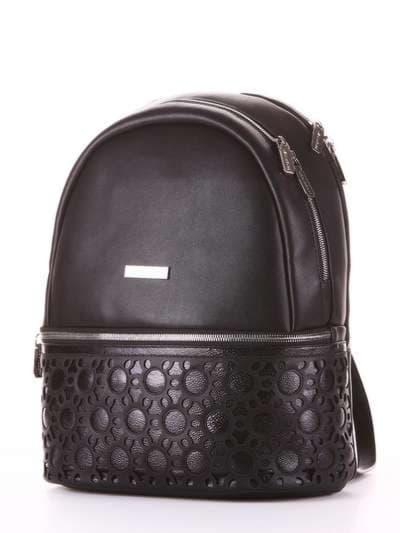 Модный рюкзак, модель 181434 черный. Фото товара, вид сзади.