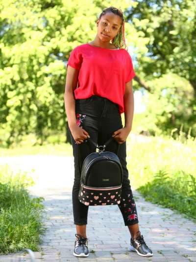 Брендовый рюкзак, модель 181435 черный. Фото товара, вид спереди._product-ru