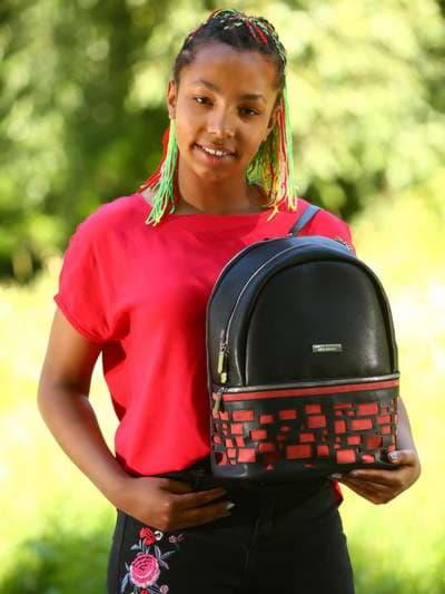 Брендовый рюкзак, модель 181436 черный. Фото товара, вид спереди._product-ru