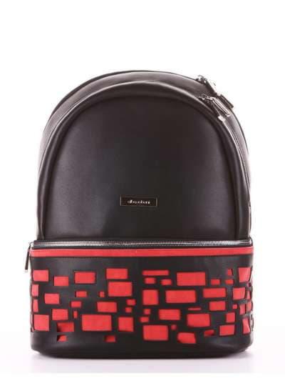 Брендовый рюкзак, модель 181436 черный. Фото товара, вид сбоку.