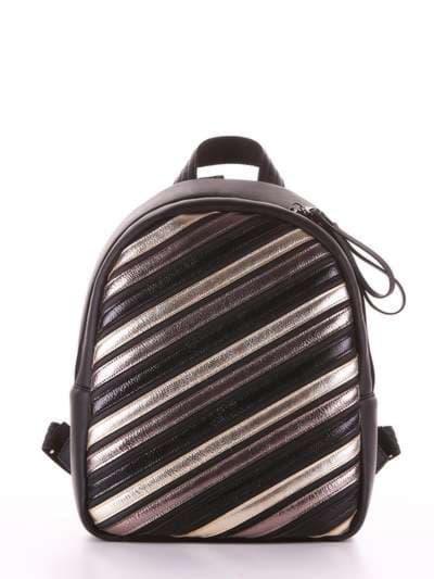 Стильный рюкзак, модель 181471 черный. Фото товара, вид сбоку.