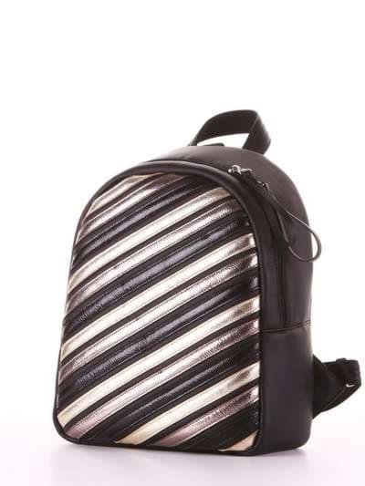 Стильный рюкзак, модель 181471 черный. Фото товара, вид сзади.
