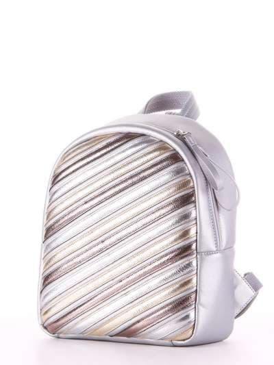 Школьный рюкзак, модель 181473 серебро. Фото товара, вид сзади.