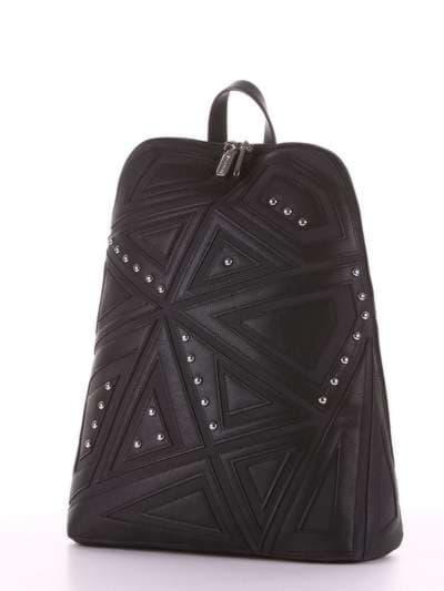 Модный рюкзак, модель 181501 черный. Фото товара, вид сзади.