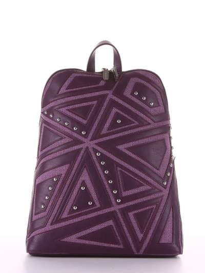 Модный рюкзак, модель 181503 баклажан. Фото товара, вид сбоку.