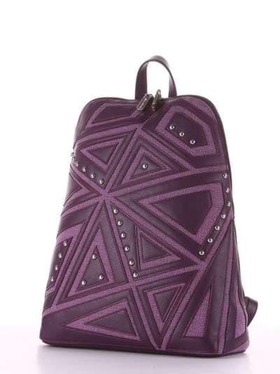 Модный рюкзак, модель 181503 баклажан. Фото товара, вид сзади.