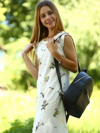 Школьный рюкзак, модель 181521 черный. Фото товара, вид спереди._product-ru