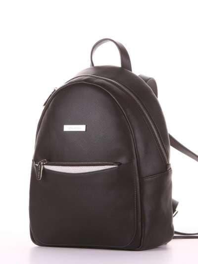 Школьный рюкзак, модель 181521 черный. Фото товара, вид сзади.