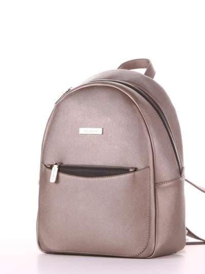 Модный рюкзак, модель 181522 бронза. Фото товара, вид сзади.