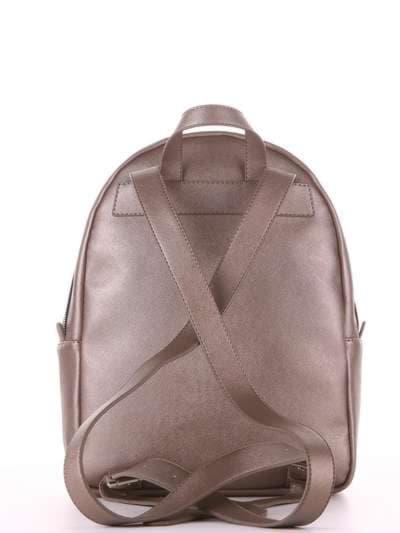 Модный рюкзак, модель 181522 бронза. Фото товара, вид дополнительный.