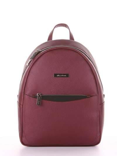 Модный рюкзак, модель 181525 красный перламутр. Фото товара, вид сбоку._product-ru