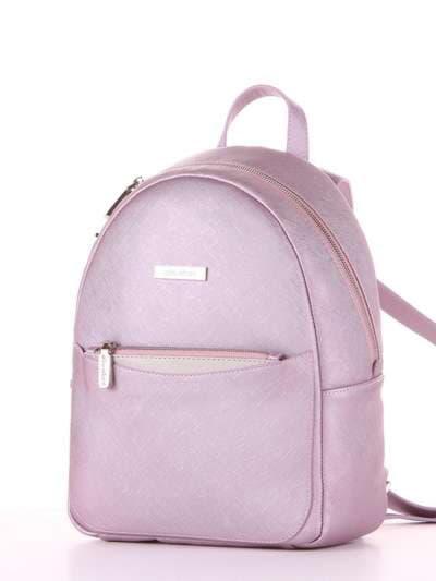 Школьный рюкзак, модель 181526 розовый перламутр. Фото товара, вид сзади.