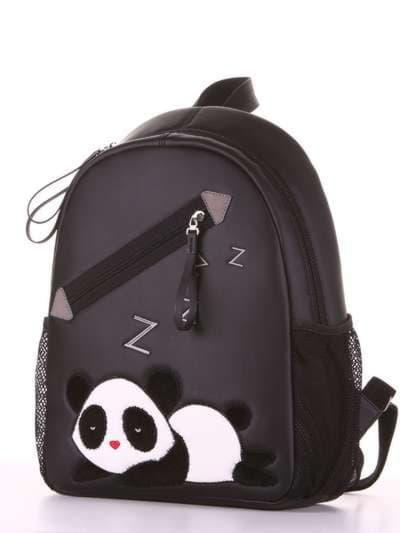 Школьный рюкзак, модель 181543 черный. Фото товара, вид сзади.