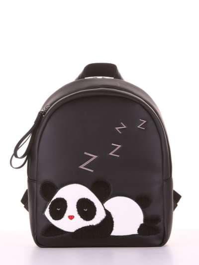 Школьный рюкзак, модель 181553 черный. Фото товара, вид сбоку.
