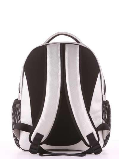 Модный рюкзак, модель 181703 серебро. Фото товара, вид дополнительный.