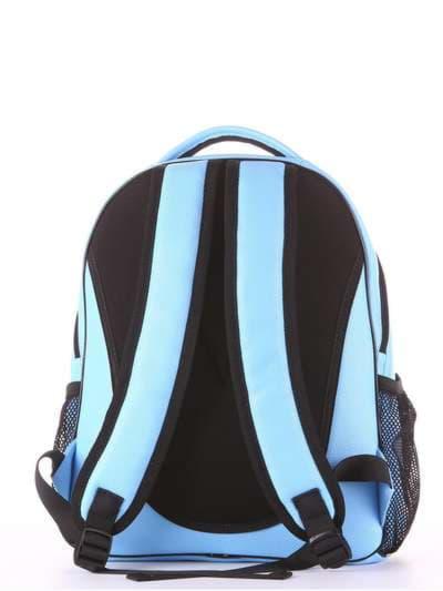 Женский рюкзак, модель 181705 голубой. Фото товара, вид дополнительный.