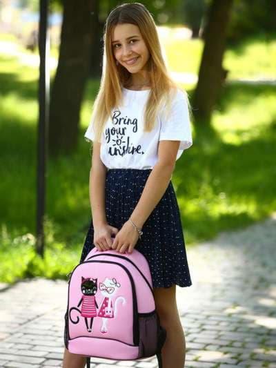 Модный рюкзак, модель 181706 розовый. Фото товара, вид спереди._product-ru