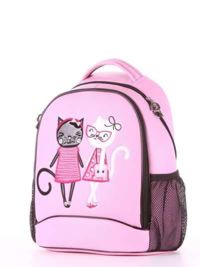 Модный рюкзак, модель 181706 розовый. Фото товара, вид сзади.