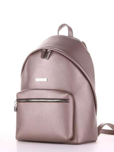 Школьный рюкзак, модель 181713 бронза. Фото товара, вид сзади.