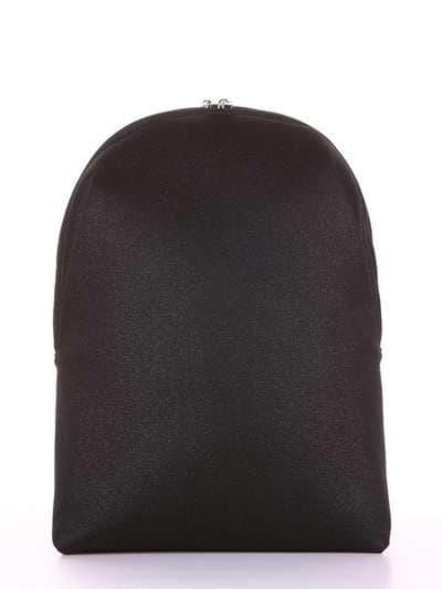 Брендовый рюкзак, модель e18121 черный. Фото товара, вид сбоку.