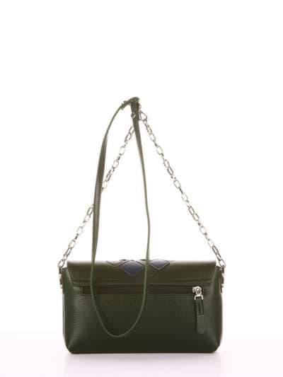 Стильный клатч, модель 181423 темно-зеленый. Фото товара, вид дополнительный.