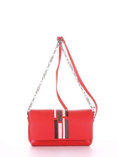 Брендовый клатч, модель 181426 красный. Фото товара, вид сбоку._product-ru