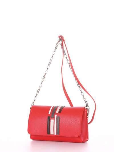 Брендовый клатч, модель 181426 красный. Фото товара, вид сзади.