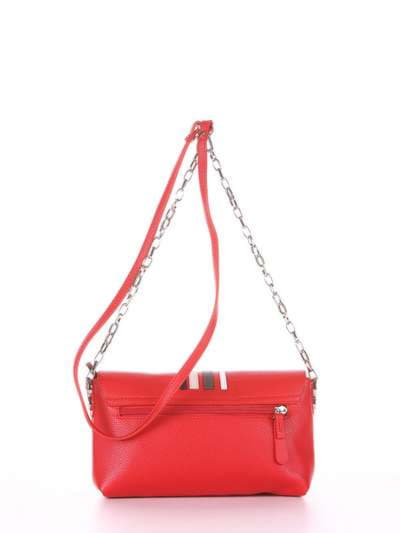 Брендовый клатч, модель 181426 красный. Фото товара, вид дополнительный.