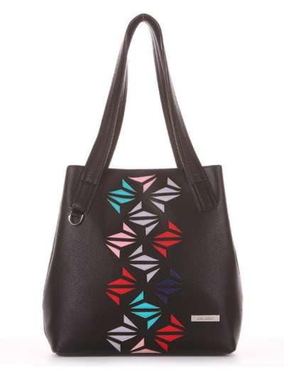 Молодежная сумка, модель 181411 черный. Фото товара, вид сбоку._product-ru