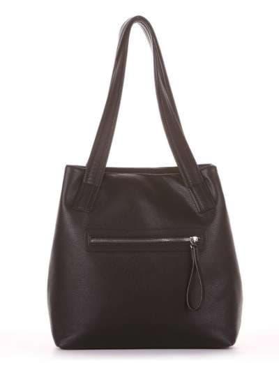 Молодежная сумка, модель 181411 черный. Фото товара, вид дополнительный.