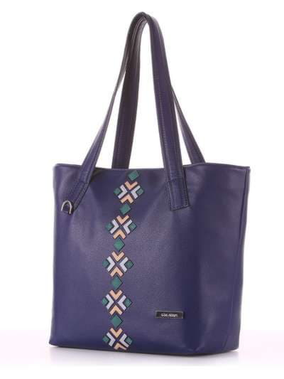 Брендовая сумка, модель 181412 синий. Фото товара, вид сзади.