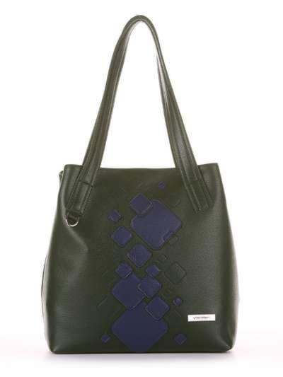 Школьная сумка, модель 181413 темно-зеленый. Фото товара, вид сбоку._product-ru