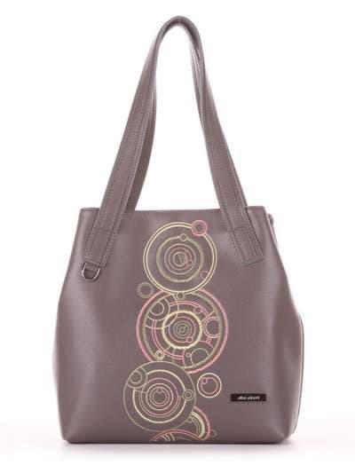 Школьная сумка, модель 181414 темно-серый. Фото товара, вид сбоку._product-ru