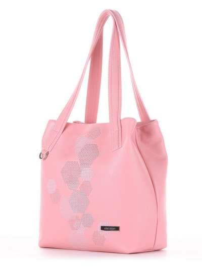 Молодежная сумка, модель 181415 пудрово-розовый. Фото товара, вид сзади.