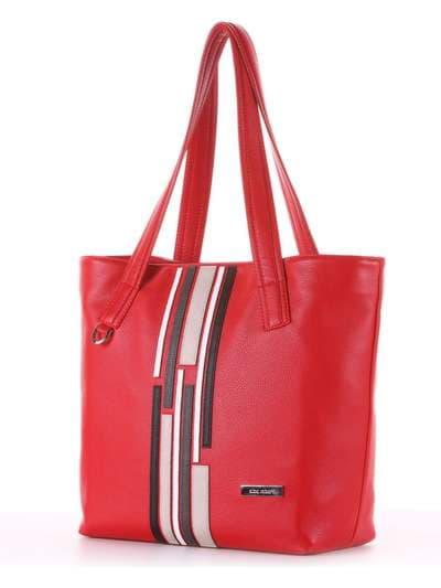 Школьная сумка, модель 181416 красный. Фото товара, вид сзади.