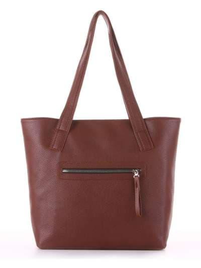 Молодежная сумка, модель 181417 коричневый. Фото товара, вид дополнительный.