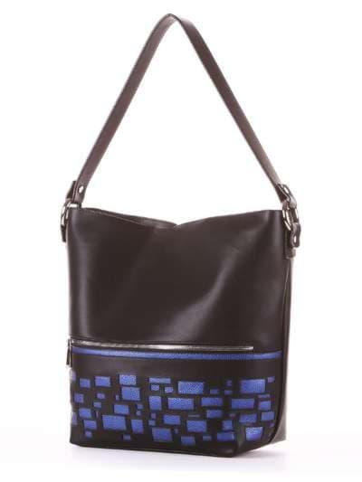 Школьная сумка, модель 181441 черный. Фото товара, вид сзади.