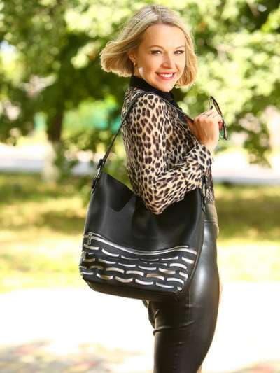 Школьная сумка, модель 181443 черный. Фото товара, вид спереди._product-ru