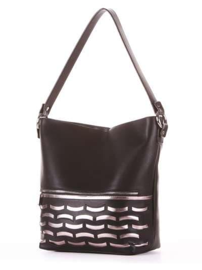 Школьная сумка, модель 181443 черный. Фото товара, вид сзади.