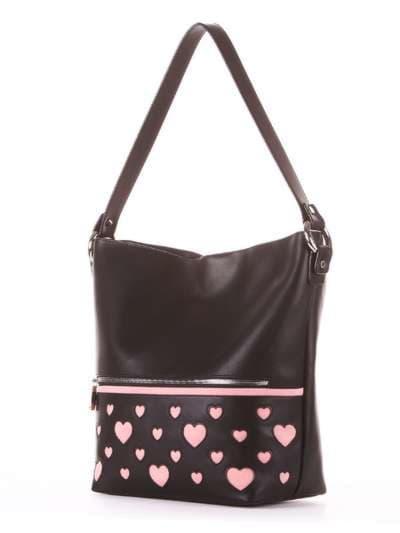 Школьная сумка, модель 181445 черный. Фото товара, вид сзади.
