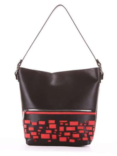 Стильная сумка, модель 181446 черный. Фото товара, вид сбоку.