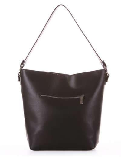 Стильная сумка, модель 181446 черный. Фото товара, вид дополнительный.