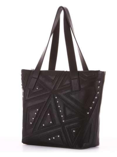Школьная сумка, модель 181511 черный. Фото товара, вид сзади.